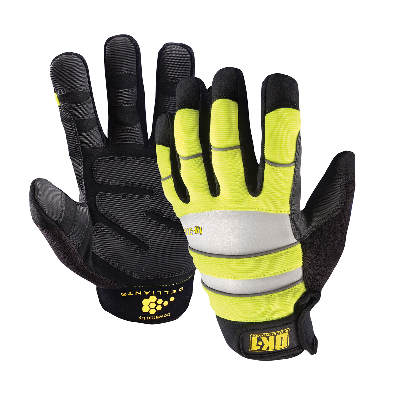 Occunomix Waterproof Winter Hi Vis Gloves