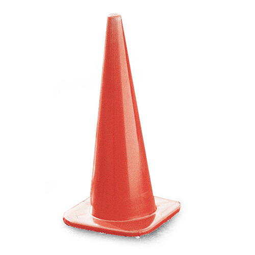 "Cortina Tool and Mold 28"" Non Reflective Traffic Cones"