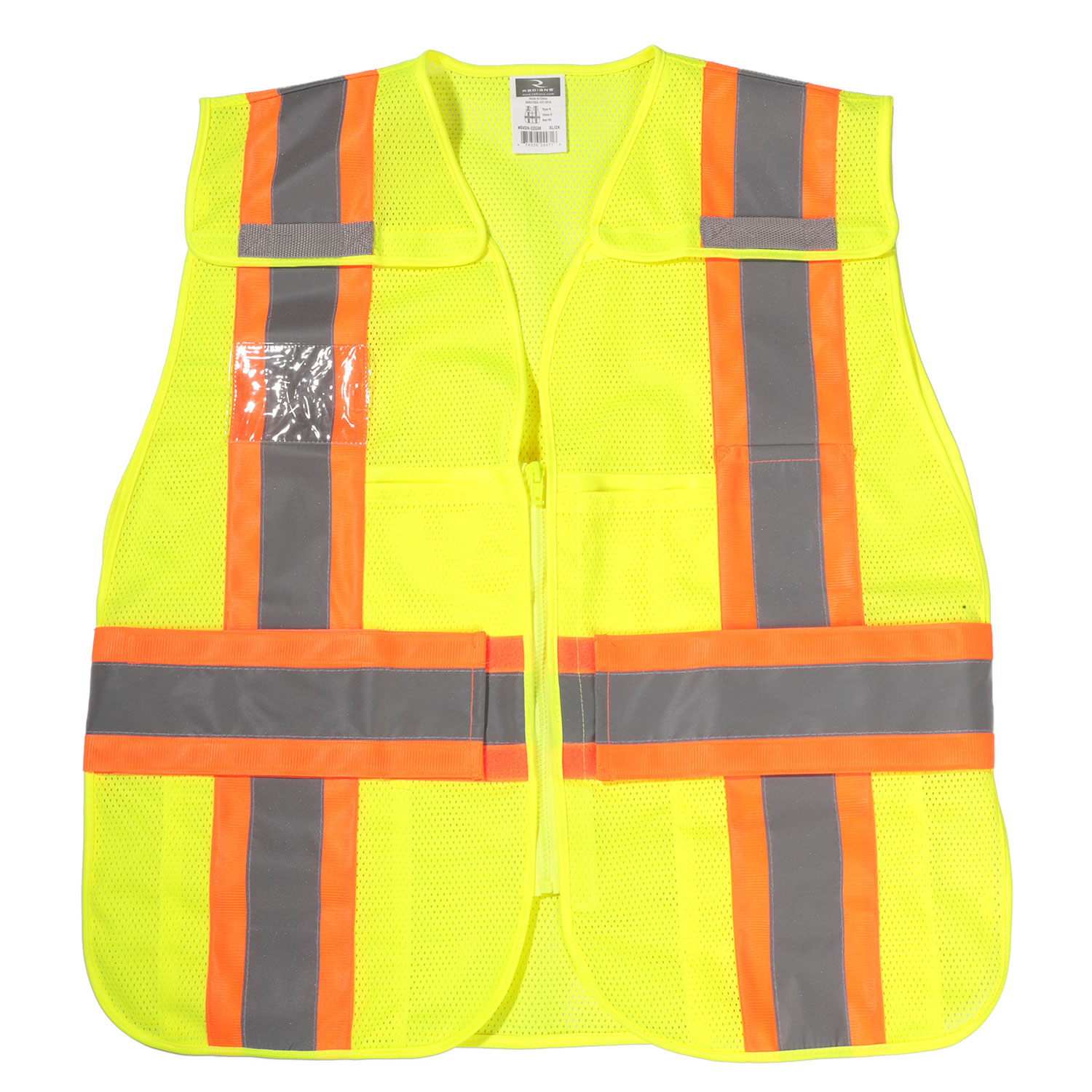 Radians SV24-2 Type R Class 2 Breakaway 2 Tone Safety Vest