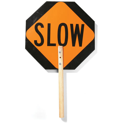 Cortina Tool and Mold Handheld Stop/Slow Traffic Sign