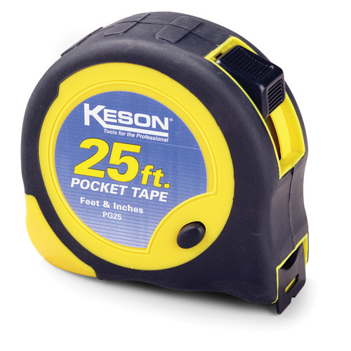 Keson Industries 25 ft. Pocket Measuring Tape