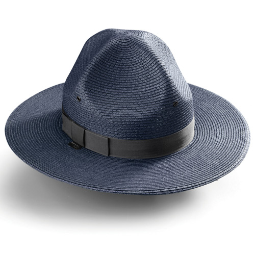 Galls Straw Triple Brim Campaign Hat