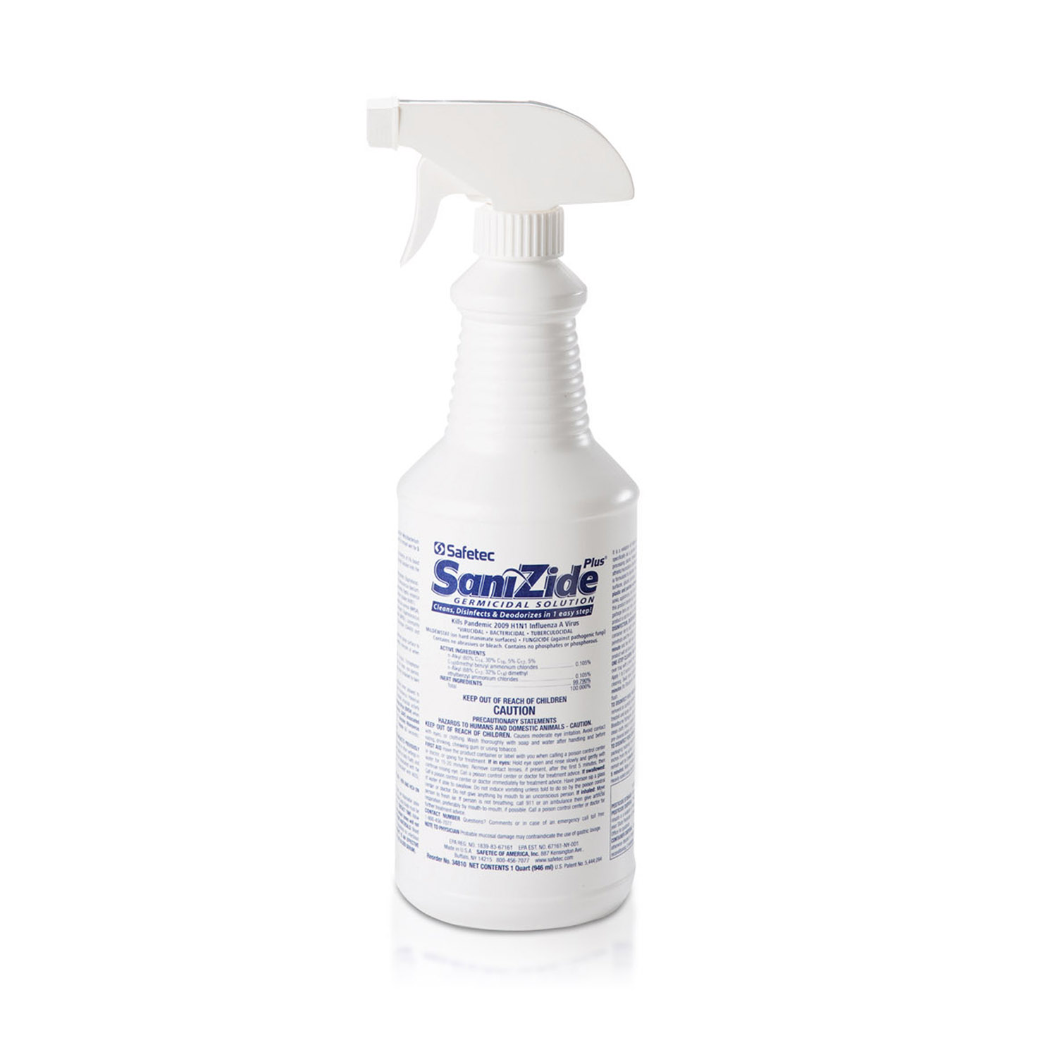 Safetec SaniZide Plus Disinfectant 32 oz. Trigger Spray Bott