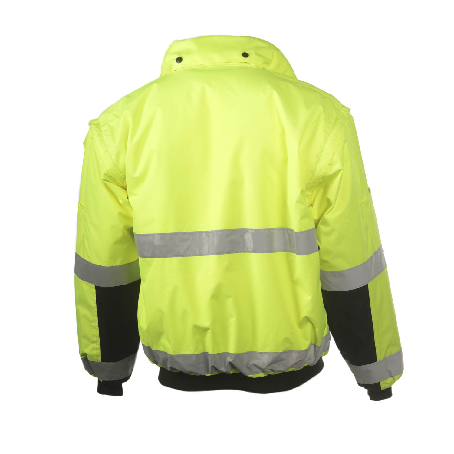 Mens Reflective Hivis Black Yellow Motorcycle Jacket Motorbike Collection L-244