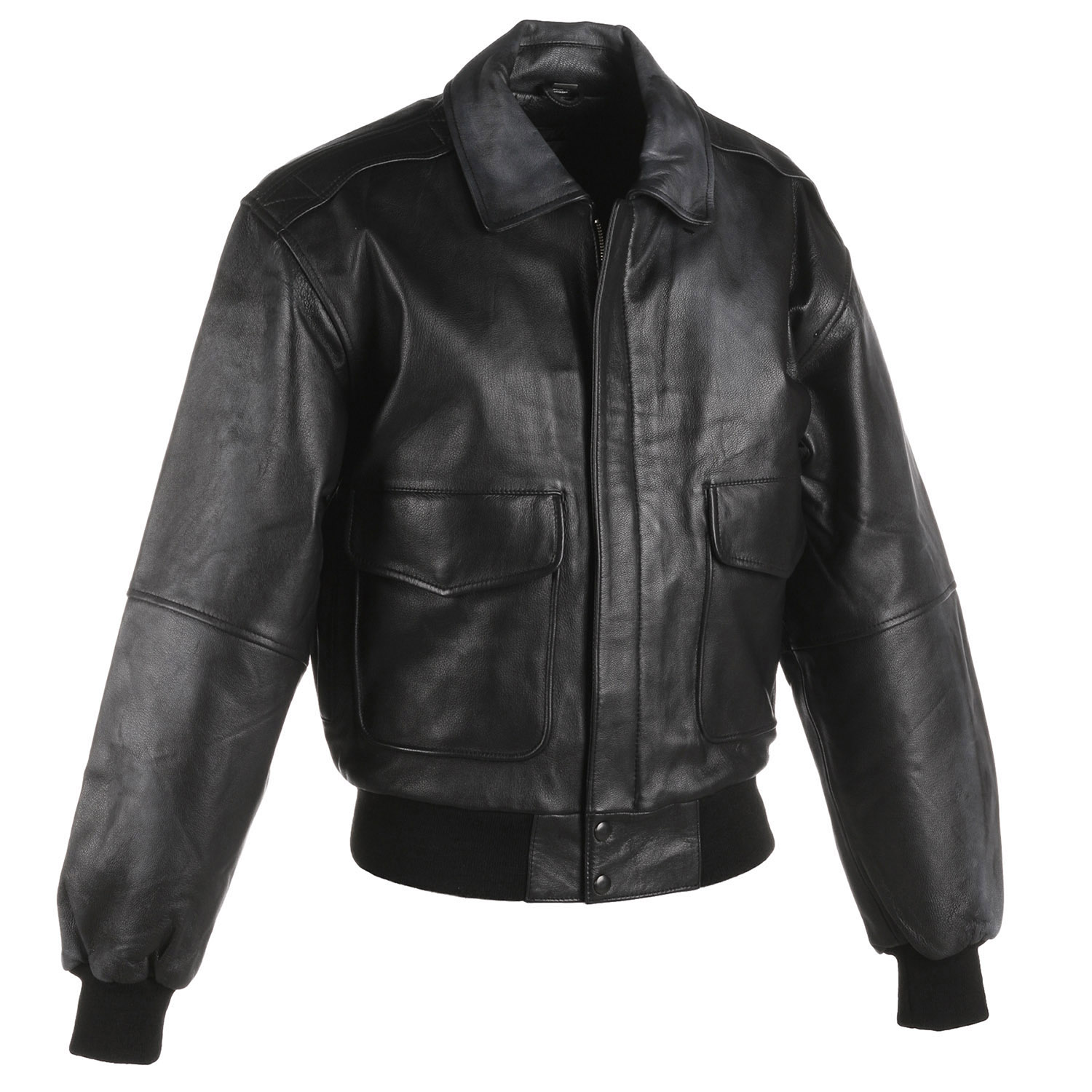 Taylor Leatherwear Goatskin Leather Bomber Jacket