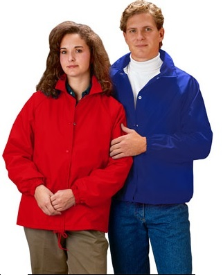 Cardinal Light Lined Nylon Windbreaker Coaches Jacket