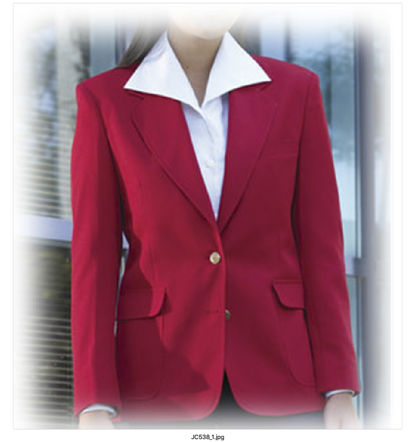 Fabian Couture Quartermaster Women's 100% Polyester 2 Button