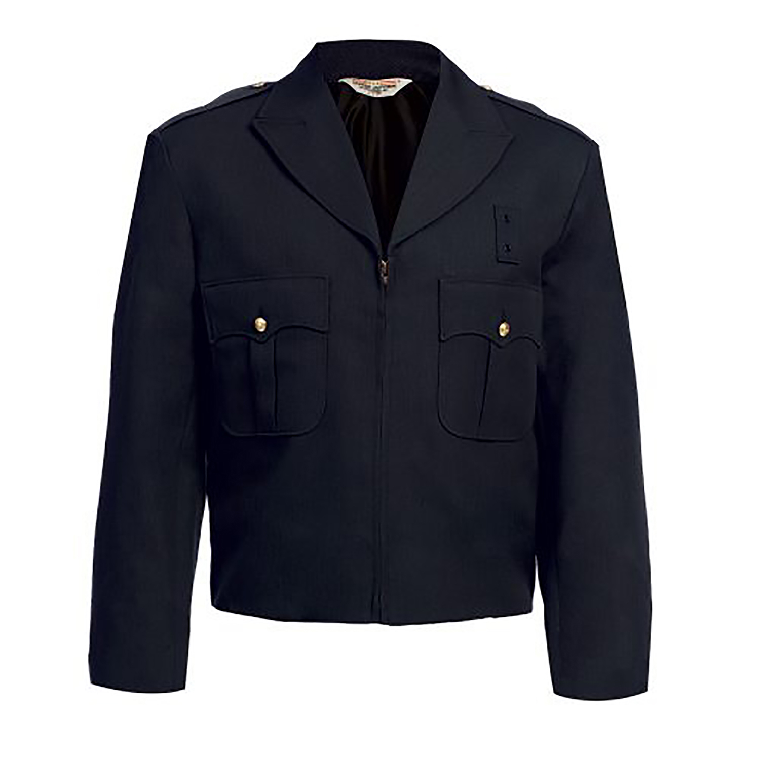 United Uniform Zippered Front Ike Jacket Polyester and Wool