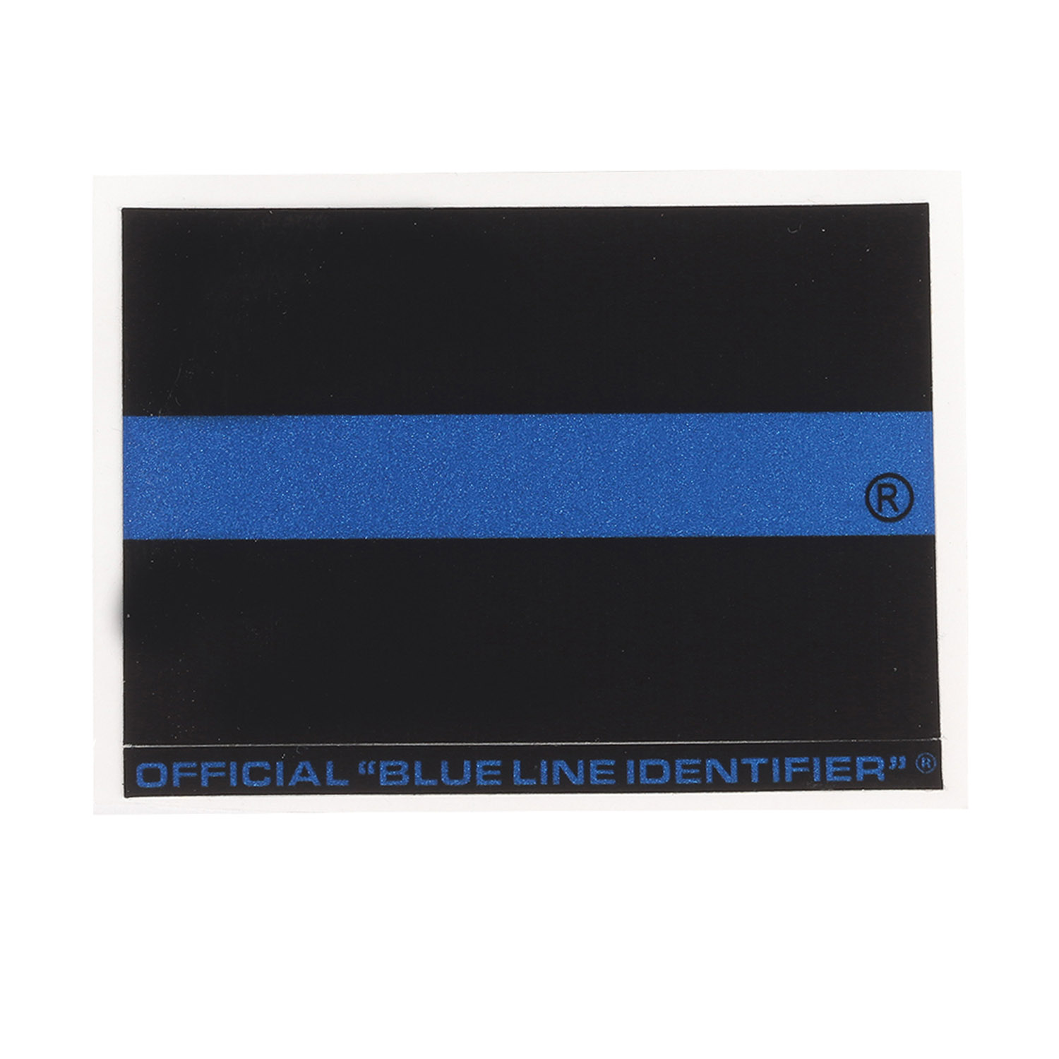 "Blue Line Regular Identifier Sticker 2"" x 3"" (JW07"