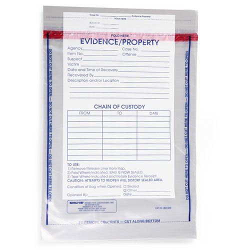 "Sirchie Integrity Evidence Bags 100 15 1/2""L x 12"""