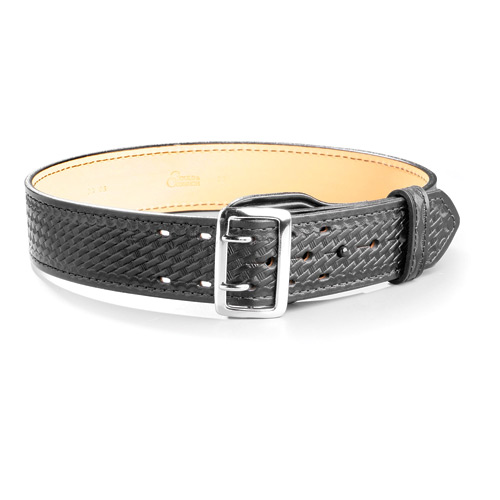 Size 46 Gould /& Goodrich Lined Duty Belt Nickel Black Weave