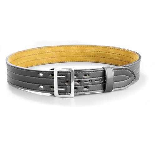 Gould /& Goodrich Lined Duty Belt Size 58 Black 4 Row Stitched Brass