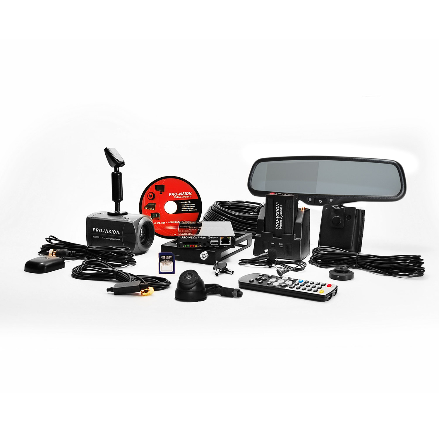 Pro Vision Solid State In Car Video System 2 cameras with mi