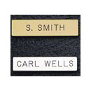 TWO LINE BRASS NAMEPLATE 1/2 X 2 3/8 IN