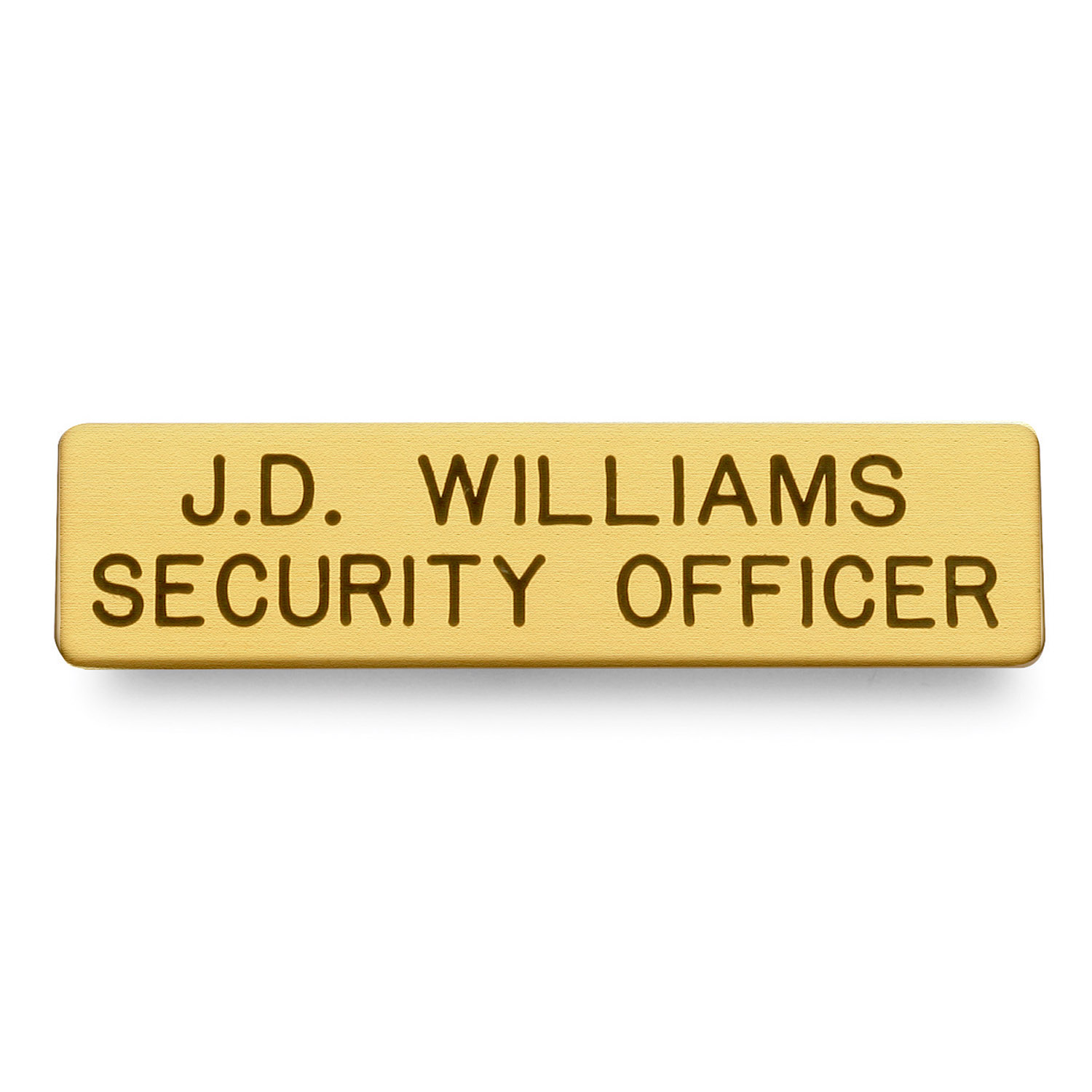"Galls 2 Line Nameplate 2 3/8"" x 1/2"""