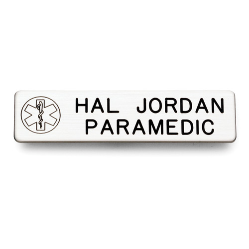 Galls Laser Engraved Emblem Nameplate with Star of Life 2 Li
