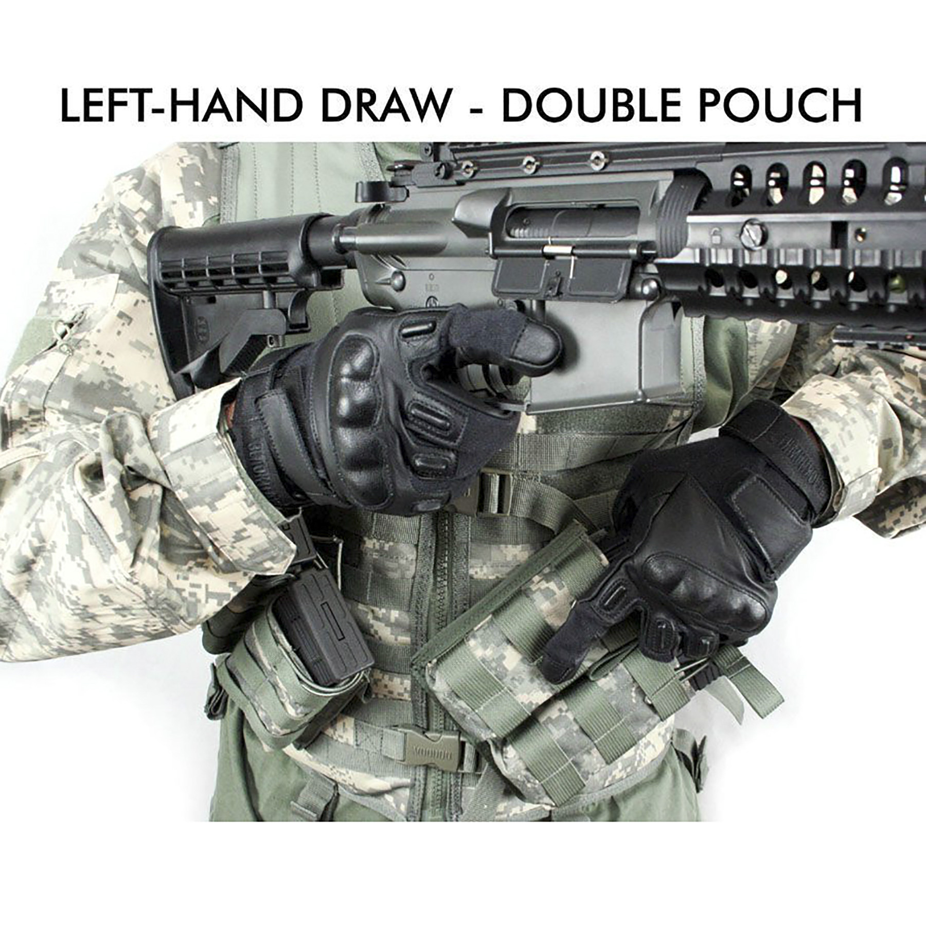 PFI Fashions Canted 45 Degree Double Mag Pouch MADE IN THE U