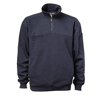 5.11 Tactical 1//4 Zip Job Shirt Poly// Cotton Fleece Pullover Black SM 72314