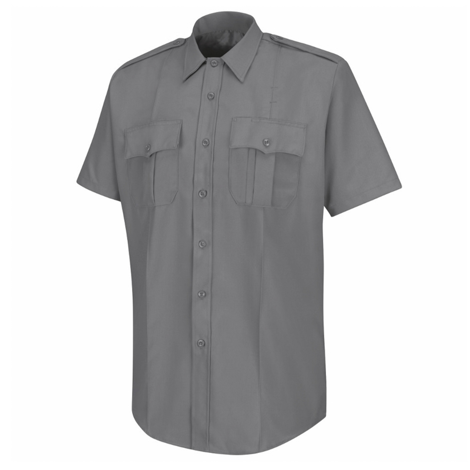 American Work Apparel Mens Grey Deputy Deluxe Short Sleeve U