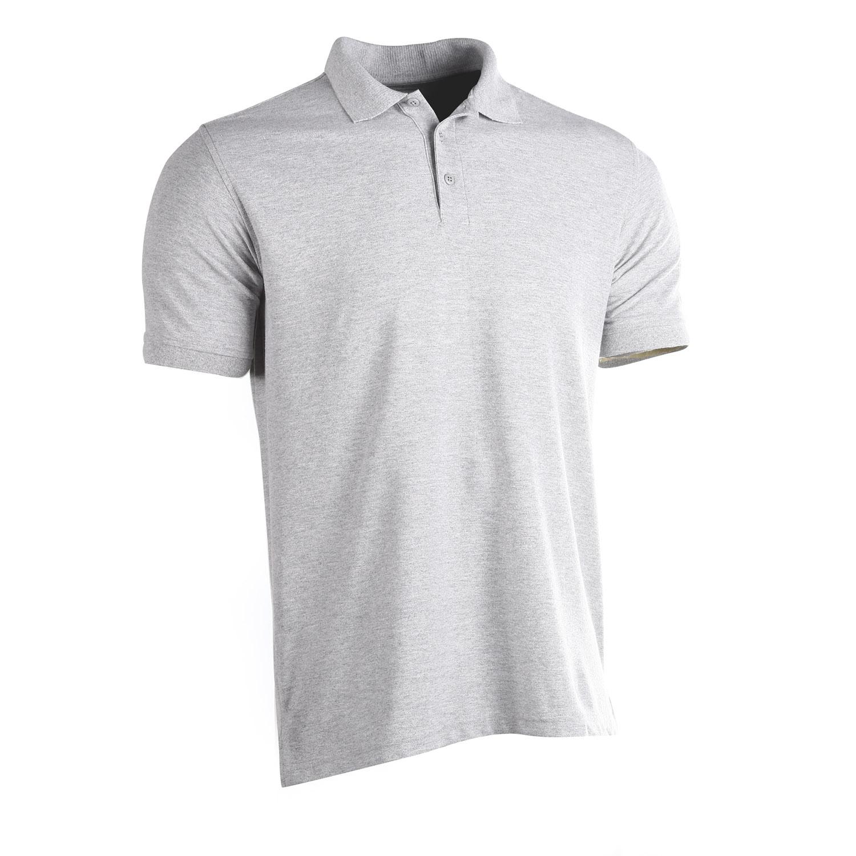 Large Tru-Spec 24-7 Short Sleeve Polo Shirt Male Reg Length 433 Heather Grey