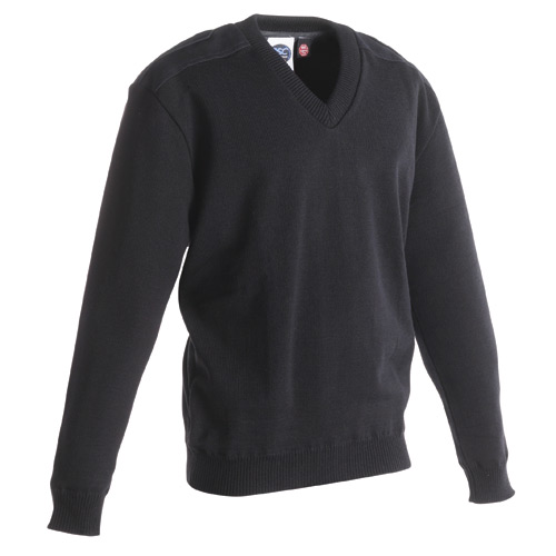 PSC Uniform Apparel V Neck Jersey Knit Commando Sweater with