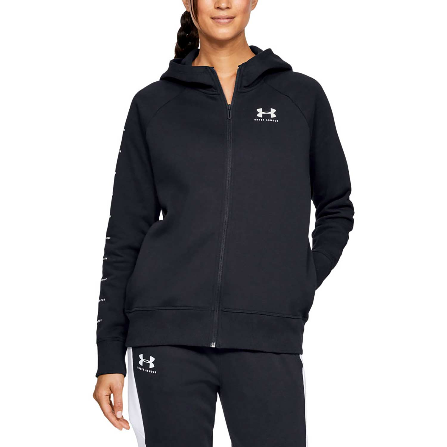 Under Armour Women's Rival Fleece Sportstyle Full-Zip Hoodie
