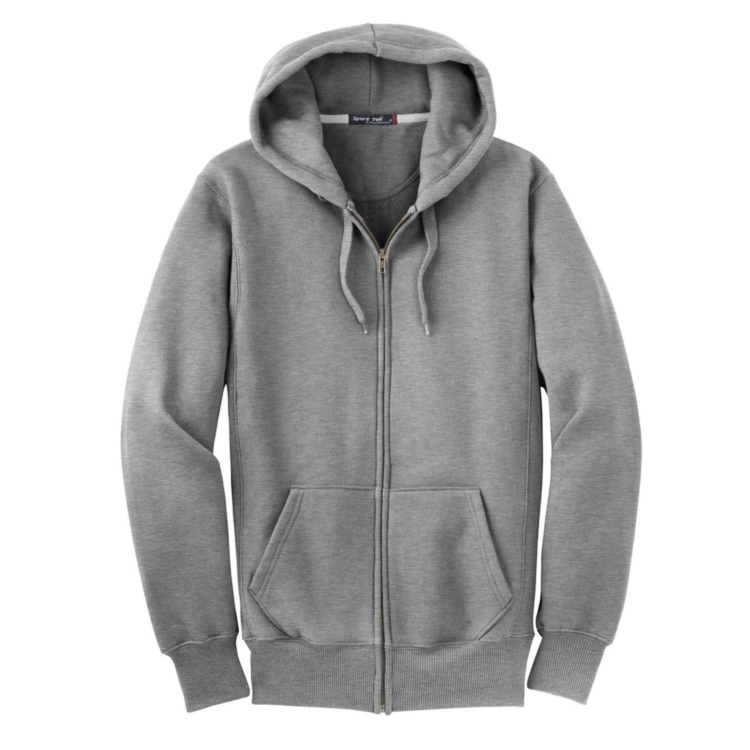SPORT-TEK Mens Full Zip Hooded Sweatshirt
