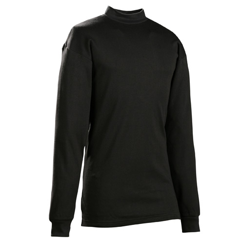 Galls Cotton Long Sleeve Mock Turtleneck