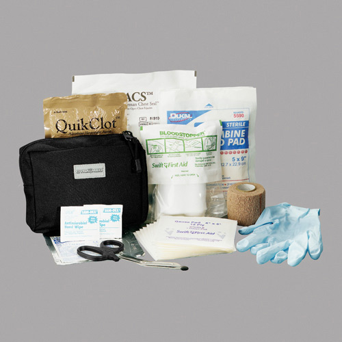 Dyna Med MOLLE Pouch Gunshot Trauma Kit with QuikClot ACS