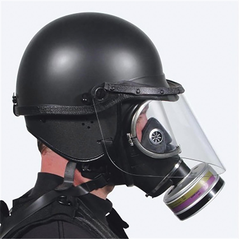 1//6 scale toy GSG9 Breacher Riot Helmet w//Face Shield /& Radio