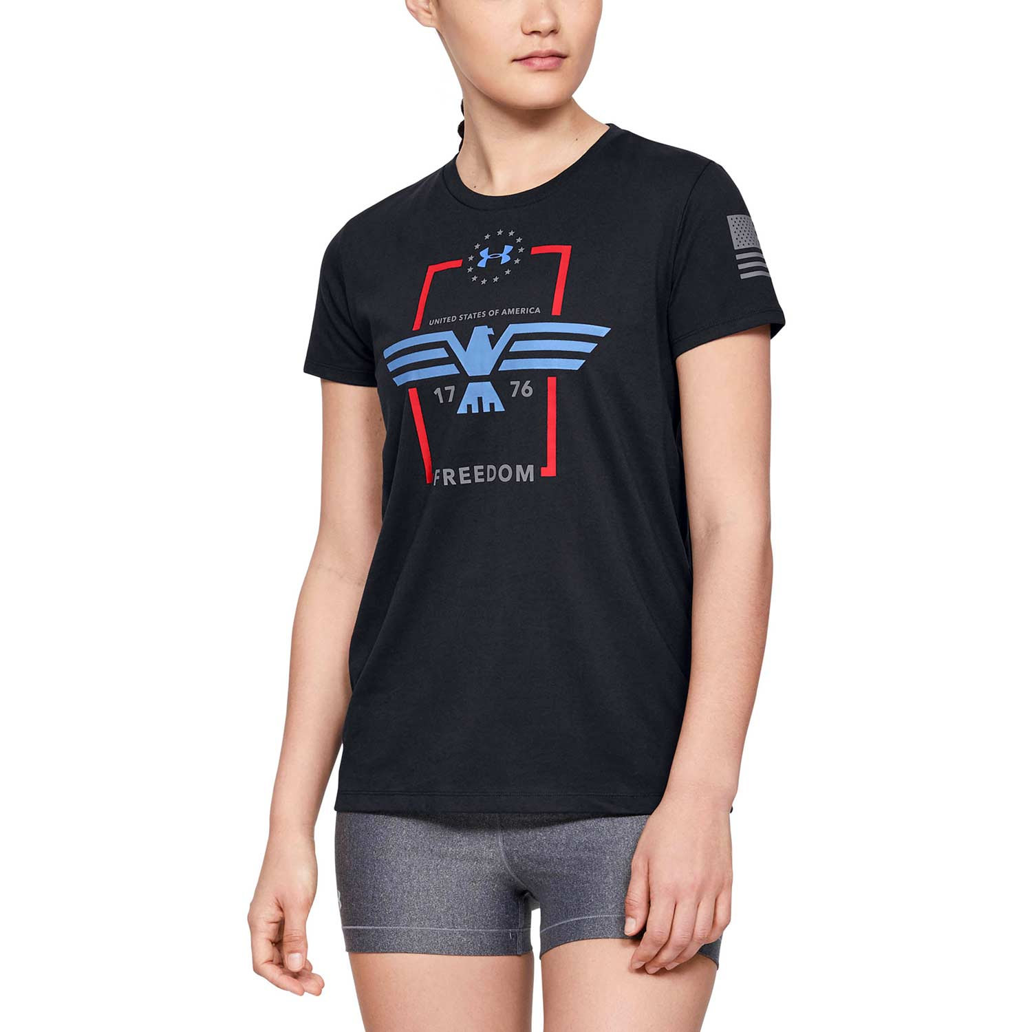 Under Armour Womens Freedom Eagle Graphic T-Shirt
