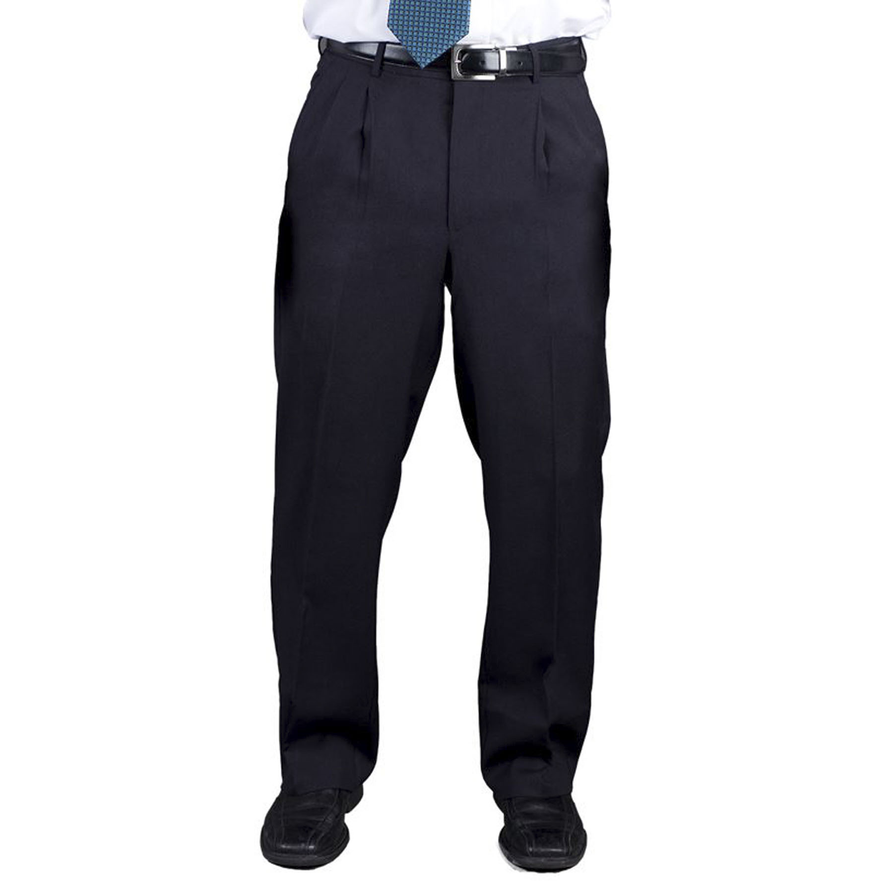 Executive Apparel Polywool Blend Pleated Front Pants
