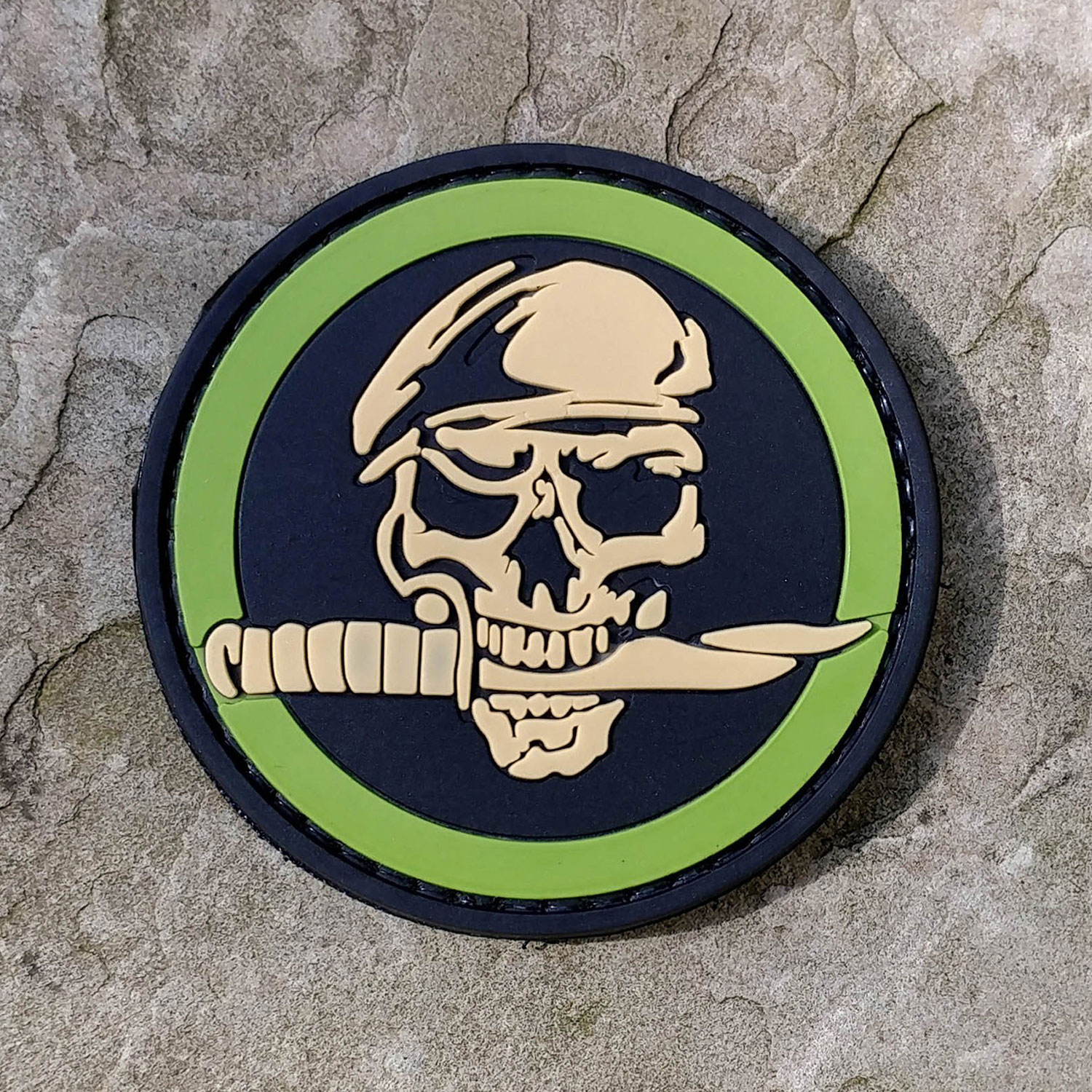 PFI Fashions Special Forces Skull PVC Morale Patch