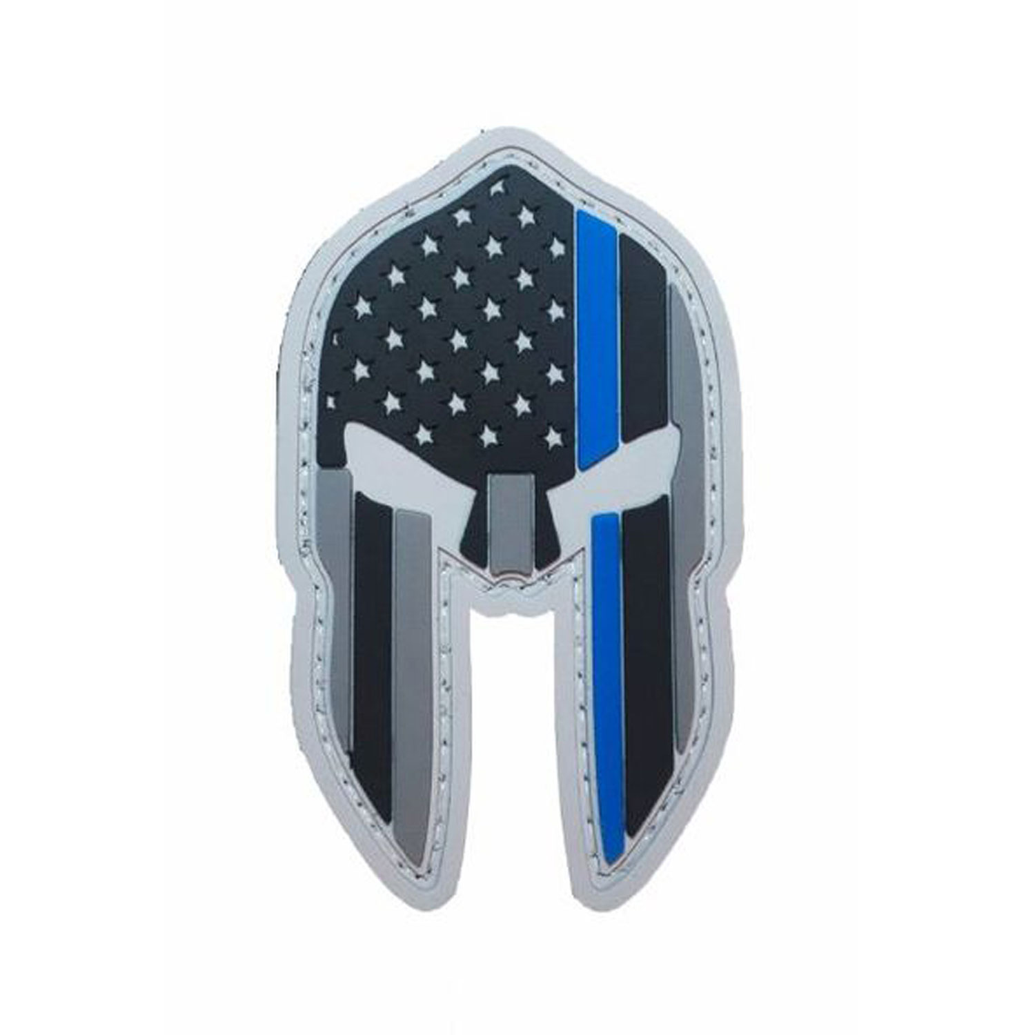 PFI Fashions Spartan US Flag Thin Blue Line PVC Morale Patch