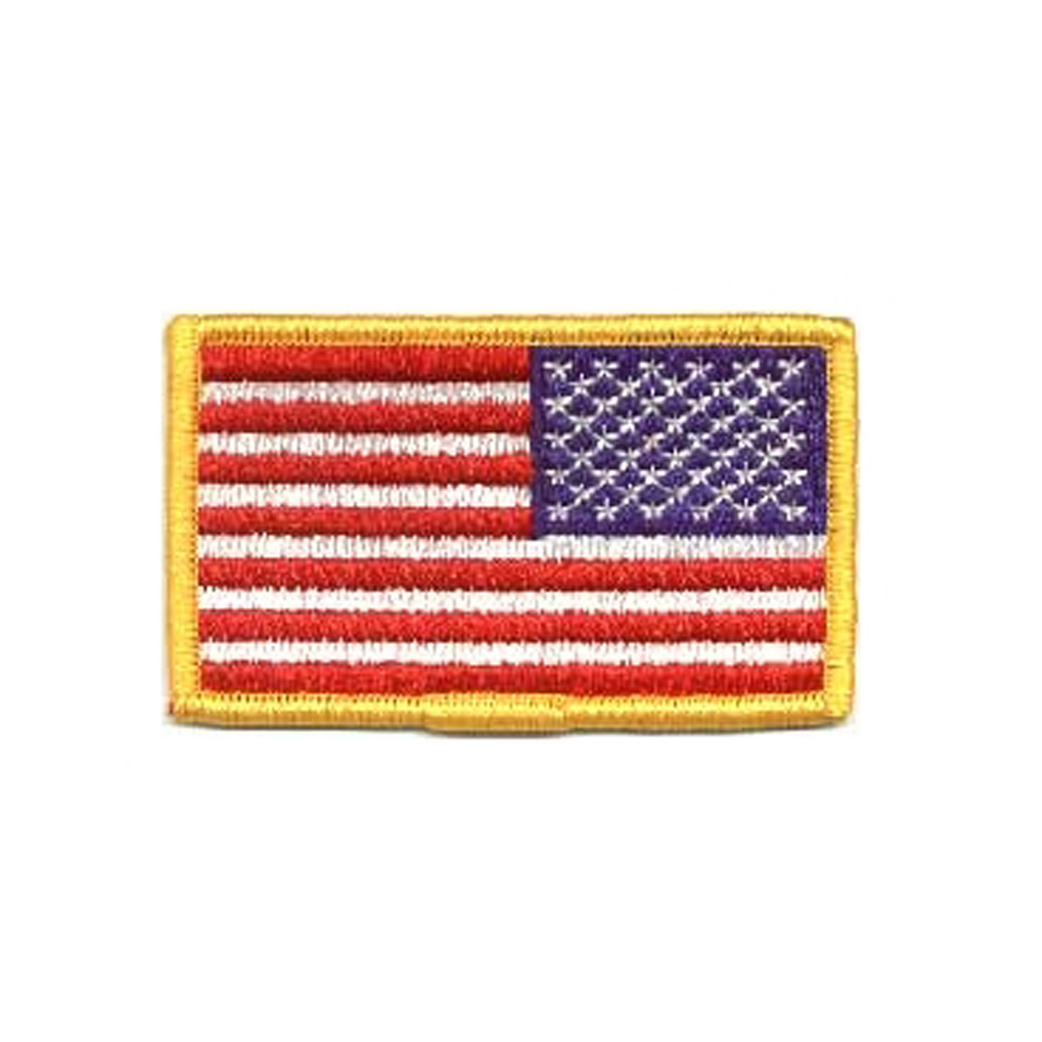 Military Patches: Reversed Flag Emblem for Right Sleeve