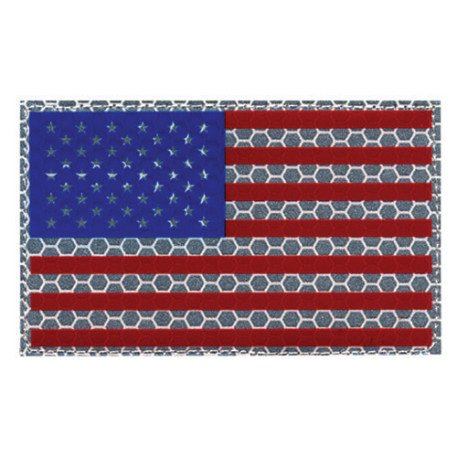 Hero's Pride IR US Flag Full Color with Hook and Loop Attach