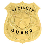 LawPro Security Guard Shield with Star, Hat Badge
