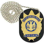 Strong Leather Clip-On Badge Holder and Chain