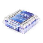 ACDelco Alkaline AA Recloseable Batteries, 100 Pack