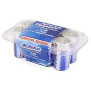 ACDelco Alkaline Batteries, C- 8pk Recloseable