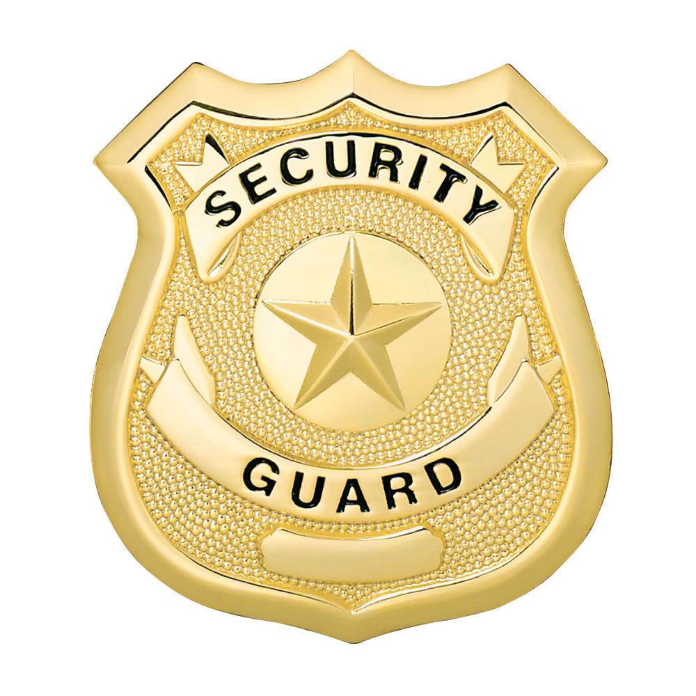 LawPro Security Guard Shield with Star Badge