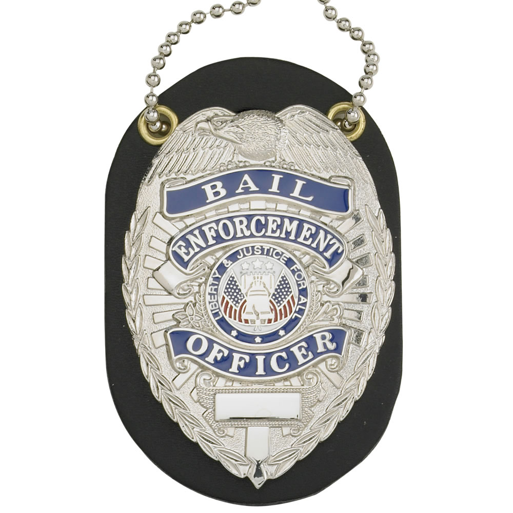LawPro Leather Oval Badge Holder with Neck Chain
