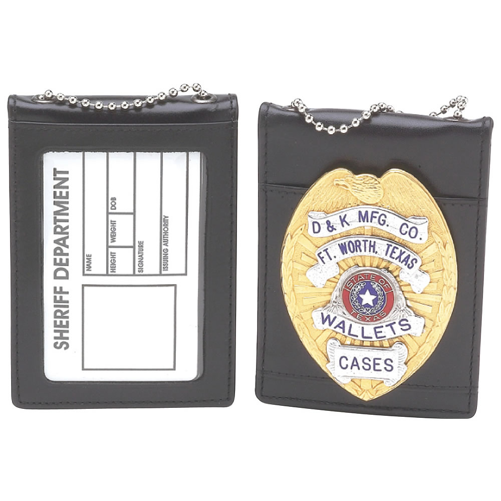 D&K Universal Badge  ID Holder with Chain