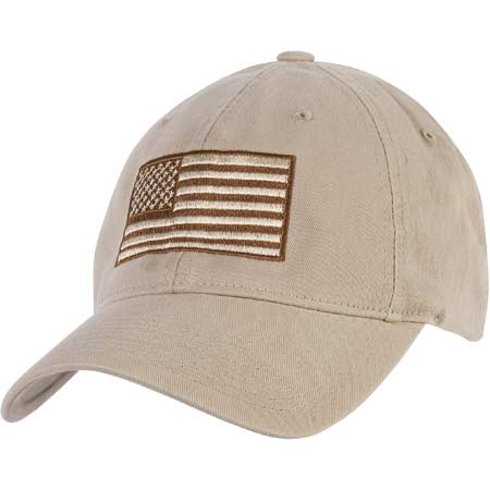Galls Embroidered American Flag Flexfit Cap